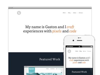 Site redesign - Live! flat ff tisa web pro tisa portfolio mobile jekyll ss social proxima nova redesign