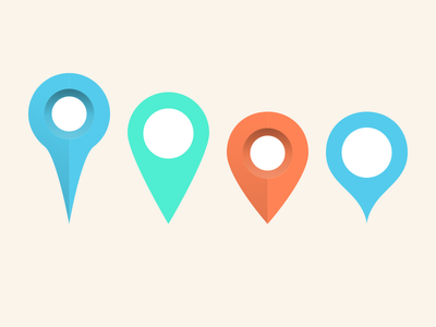 Map Markers (PSD) map pin marker psd free freebie