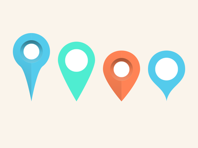 Map Markers (PSD)