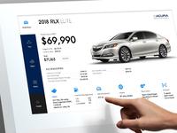 Acura Autoshow touchscreen