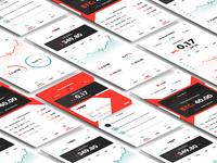Crypto wallet app mockups