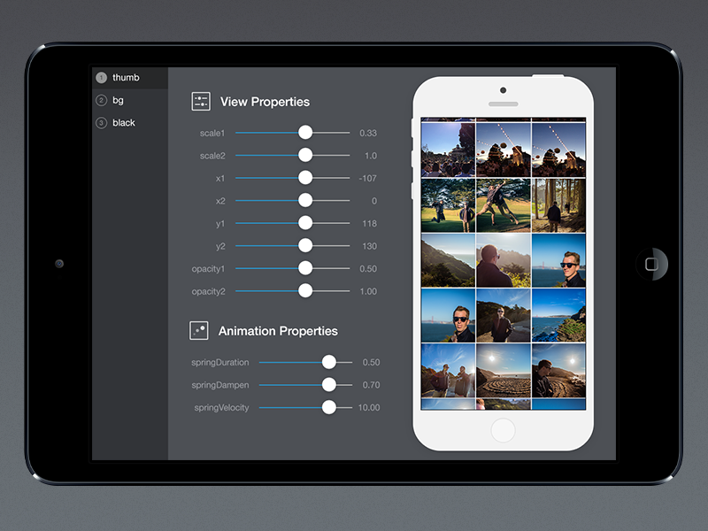 More Tweaking ipad prototyping tool uikit icons animation iphone tweak slider