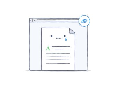 Sad files are sad file sad link dropbox illustration icon