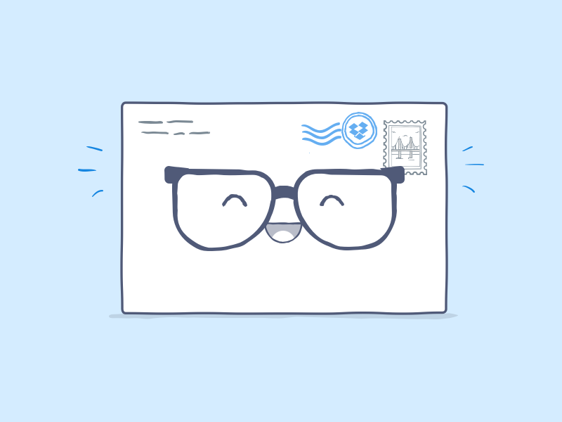 Happy envelope is happy envelope dropbox illustration glasses mail