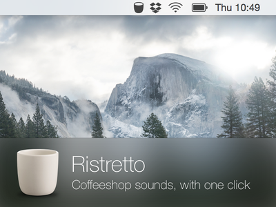 Ristretto mac app icon coffee music osx