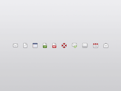 Icons icons 16px icon envelope paper file help calendar