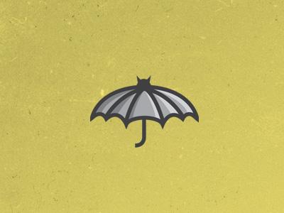 Batbrella logo icon bat umbrella
