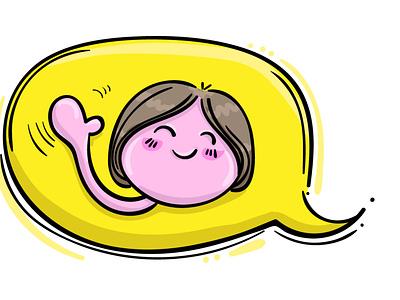 Hello! I'm a Singing Illustrator! conversation waving emoji hello introduction sketching design drawing sketch illustration