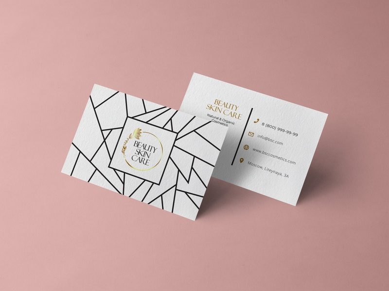 Business card for cosmetics store skincare natural cosmetics cosmetics business card businesscard beauty