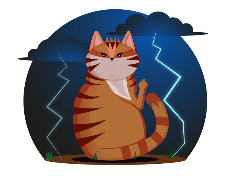 Angry cat cat illustration adobe illustrator vector vector illustration illustraion angry cat cat