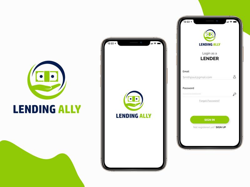 Lending Alley mobile App UI Designs uidesign mobile app design mobile app andriod app ios designing ui uiux design