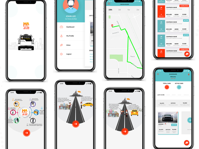Cabs Dashboard Mobile App Ui