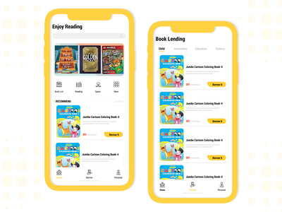 Online Library Mobile app ui