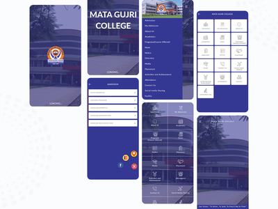 College Mobile App User Interface