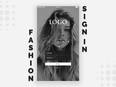 Sign In Fashion User Interface