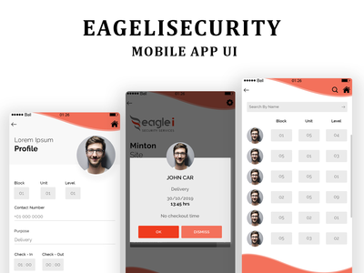 Eagleisecurity Upcoming Mobile App UI
