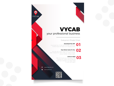 VYCAB Flyer Template UI