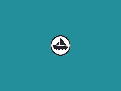boaty 2 nautical sailor water sailboat sails ocean sea icon logo ship boat