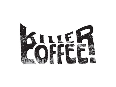 Killer Coffee branding hand coffee shop killer typography text font coffee
