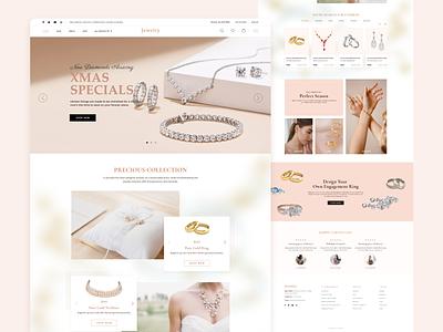 Jewelry e-commerce Websites Design website theme jewelry design clean ux website webdesign shopify branding ui