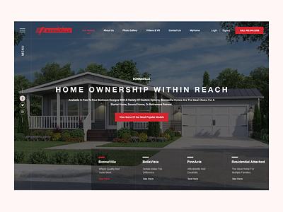Real Estate Website Design (UI/UX) webdesign real estate branding logo clean wordpress theme website ux ui design