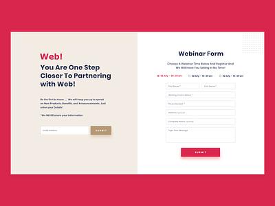 Webinar Pop-up Form registration form pop-up clean branding wordpress theme website ui ux design
