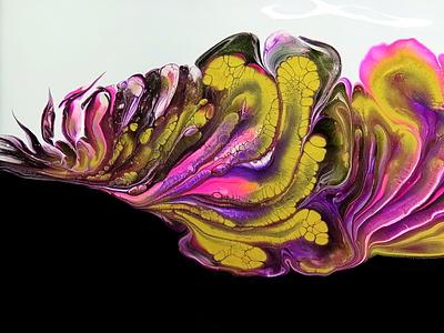 Flower shaped OPEN CUP technique ~ Colour split acrylic pour ~ flower stayhome fluid art paintings acrylic paint tutorial design art pouring acrylic
