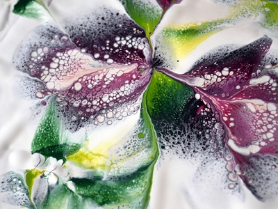 SIMPLE acrylic pour FLOWER painting flower paintings acrylic paint design tutorial pouring art acrylic