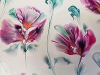 (273) Sting pull & balloon dip / Carnation flower painting / Flu