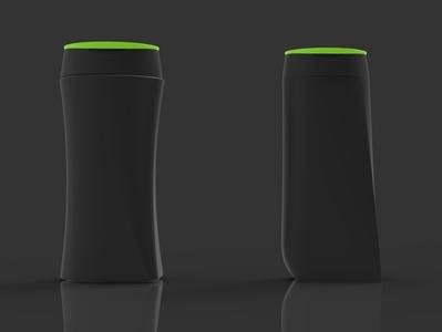 Modern asymetric shapes for Shampoo bottle design retail bottle design packaging product 3d