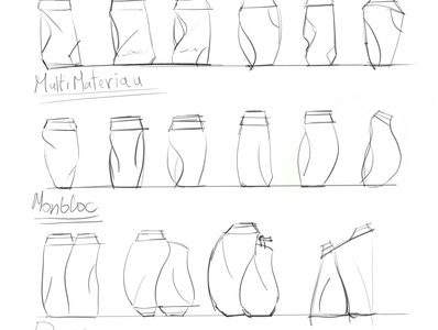 Sketching ideation to look for a new concept of bottle design bottle retail design packaging
