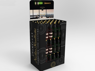 Nicolas Feuillate Champagne Retail POS BOX pos packaging retail 3d