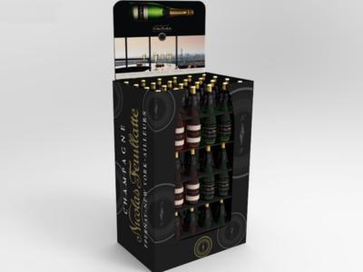 Nicolas Feuillate Champagne Retail POS BOX pos packaging retail 3d