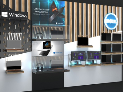 Dell Exhibition Design Wall display interior 3d retail store store design store marketing product design shelves wall design retail design retail exhibition design exhibition