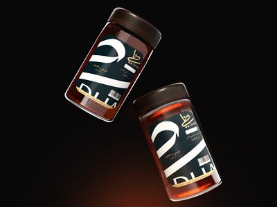 Luxurious Honey Bottle Packaging Design luxury branding honey product design luxurious bottle product retail packaging 3d