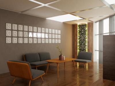 Waiting area design in plant + Sign design