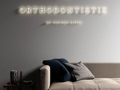 LED Sign Logo for waiting room medicaldesign interiordesign interior retail design 3d sign led