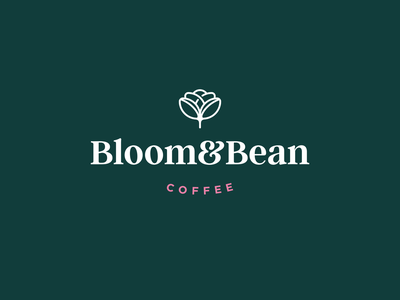 Bloom & Bean minimalist logo minimal design coffee logo flower coffee branding logo lockup logotype logo design logodesign logofolio logo identity design identity brand identity brandidentity brand design branding agency branding design branding