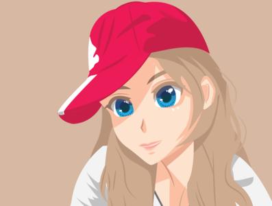 Face Vector illustration design vector adobe illustrator anime