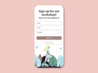DailyUI 001 Sign Up dailyui001 app illustration design ux ui dailyuichallenge dailyui