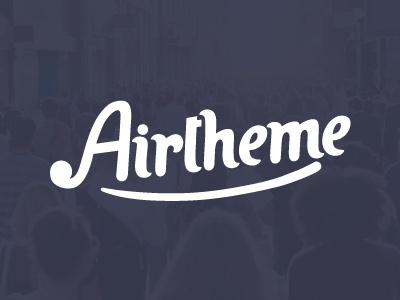 AirTheme | We came to win! logo promo wordpress web webdesign lettering font calligraphy typography