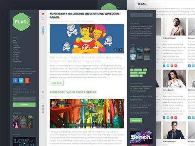 Flag | First Theme WordPress themeforest wordpress theme webdesign blog airtheme html modern flat