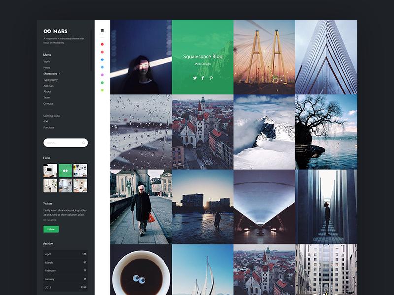 Mars | Portfolio and Blog Template portfolio web webdesign ui layout ux corporate flat