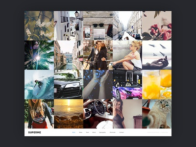Superme | Portfolio HTML5 Template portfolio web webdesign ui layout ux corporate flat html
