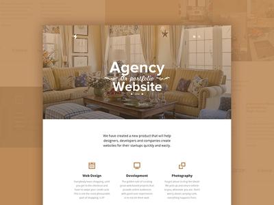 Agency | Corporate Template portfolio web webdesign ui layout ux corporate flat