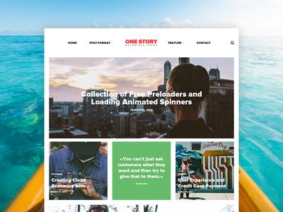 One Story | Modern Template news web webdesign ui layout ux corporate flat