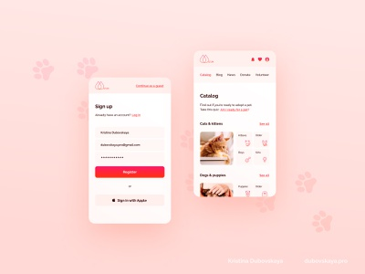 Animal Shelter Website clean branding website app web ux ui minimal flat design