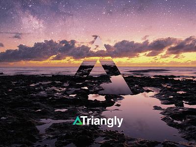 Triangly app design logo web portfolio designers