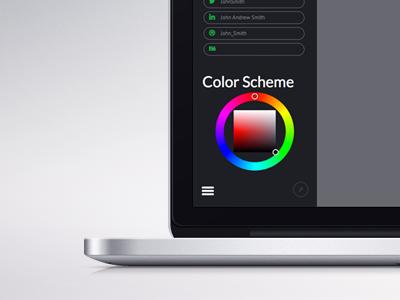 Sidebar colors form sidebar design web interface project side