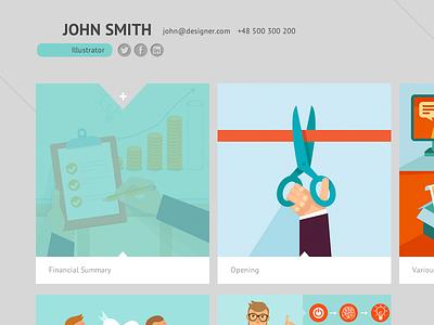 Portfolio portfolio design web social contact works list responsive website